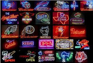 Bảng hiệu đèn neon có nhiều màu sắt lựa chọn thiết kế