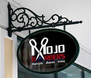 Biển hiệu cửa hàng cắt tóc